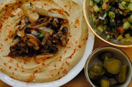 Hummus and Mushroom
