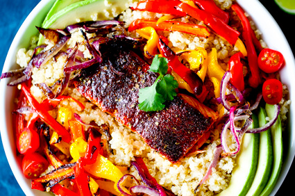 Oven Roasted Salmon Bowl